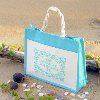 Ma'Daerah Jute Bag (Light Blue)