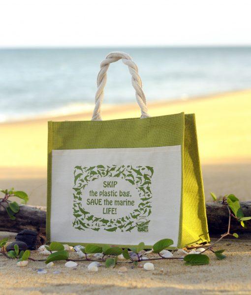 Ma'Daerah Jute Bag (Green)