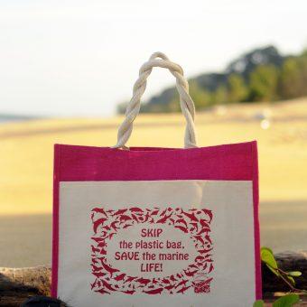 Ma'Daerah Jute Bag (Pink)