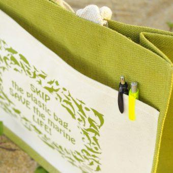 Ma'Daerah Jute Bag Pocket (Green)