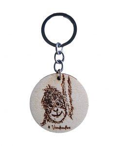 Orangutan Wooden Keychain