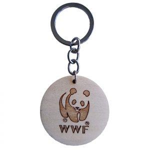 Round Wooden Keychain (back)