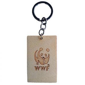 Elephant Wooden Keychain (back)