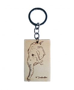 Elephant Wooden Keychain